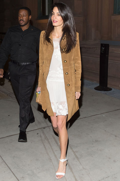 gallery-1430763891-hbz-amal-clooney, going out, lace, night out, party, suede, spring