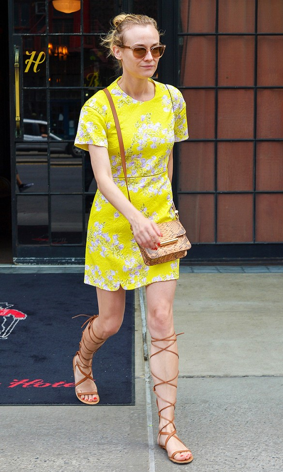 gladiator-sandals-via-diane-kruger-yellow-dress-via-www