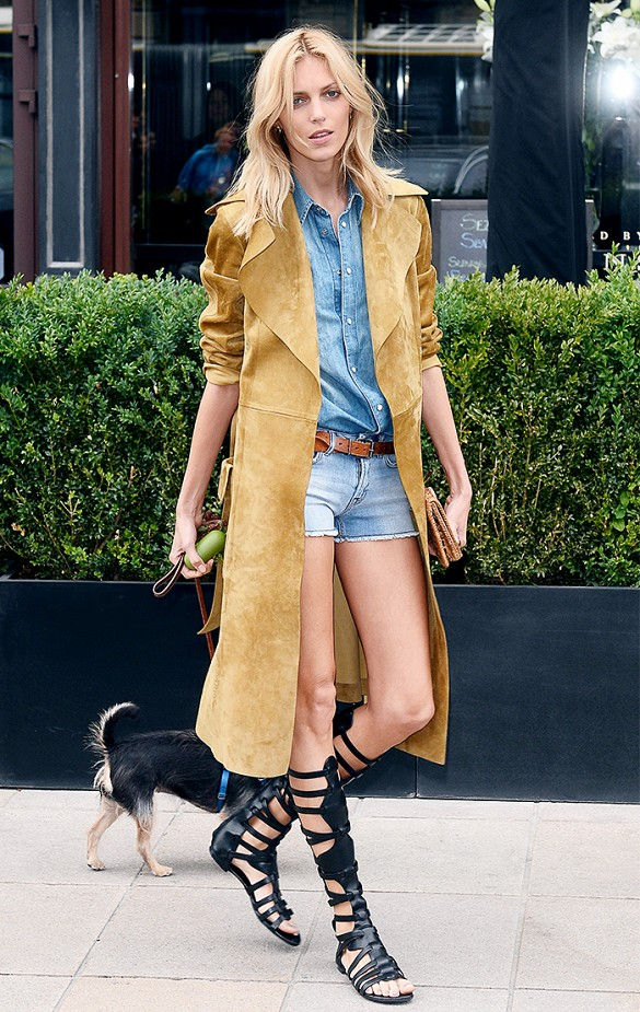 gladiator-sandals-via-double-denim-cutoffs-suede-coat-via-www