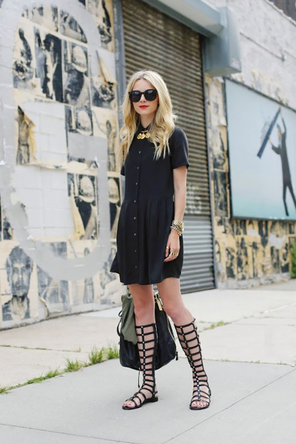 gladiator-sandals-via-shirt-dress-all-black-work-summer-via-atlantic-pacific