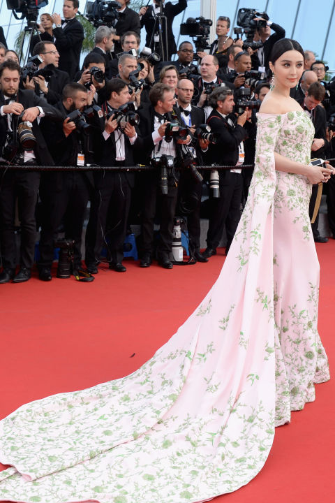 bingbing, cannes, red carpet, celeb style, evening gowns, black tie, cannes 2015