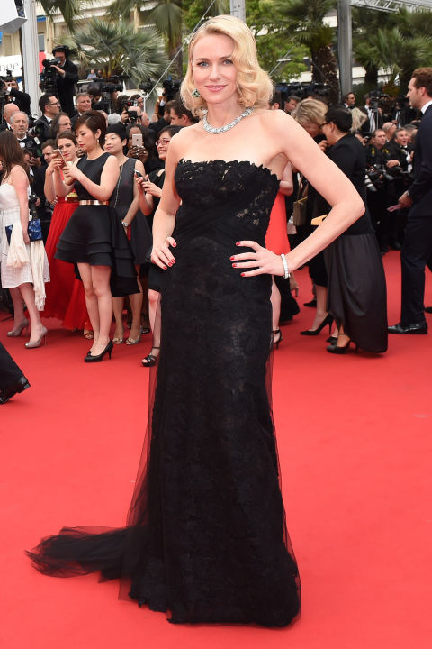naomi-watts, cannes, red carpet, celeb style, evening gowns, black tie, cannes 2015