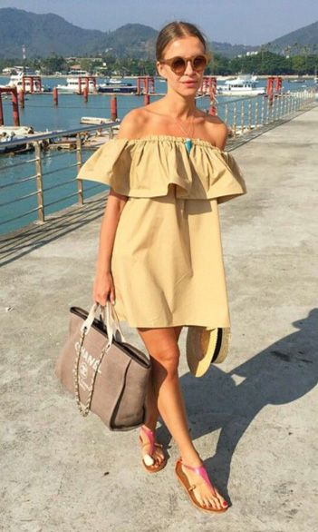 jetsetter-style-summer-off-the-shoulder-dres-beach-going-out-night-out-sandals-tote-sunglasses-via-