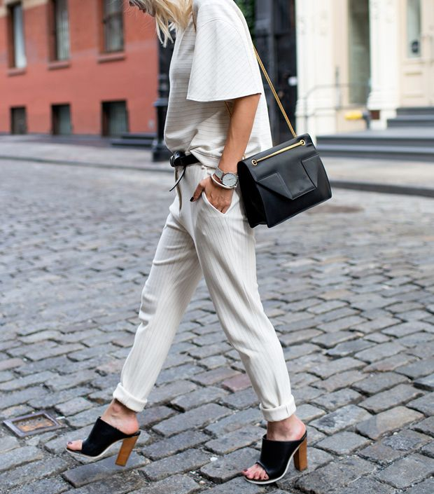 jumpsuit-rolled-pants-white-pinstripes-belted-belt-mules-summer-spring-work-tibi-via-www
