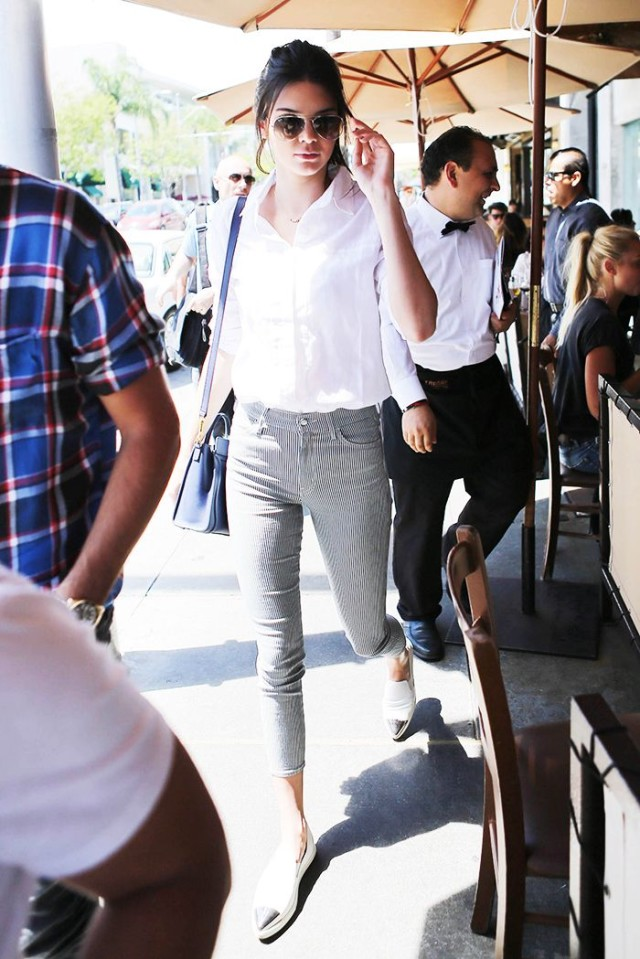 kendall-jenner-striped-denim-loafers-white-oxford-weekend-via-www