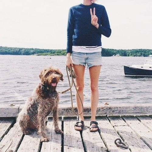 lake-weekend-summer-birks-cutoffs-stripes-via-birdasaurus.tumblr.com