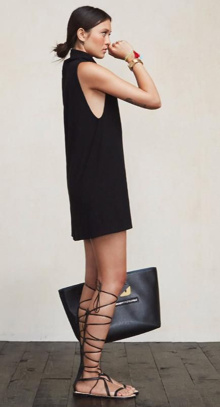 little-black-dresss-tall-gladiator-sandals-via-stylecaster.com