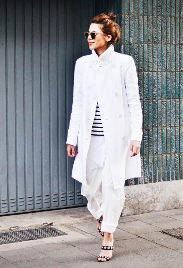 all white, summer whites, stripes, oversized, white pants, spring coat, white coat, trench coat, sandals, studded sandals, sunglasses, tomboy, preppy, classic, blogger style, mywah