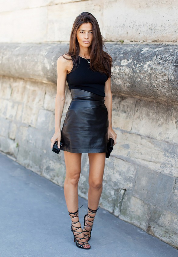 What To Wear With A Short Leather Skirt - Dress Ala