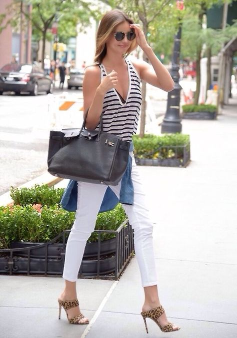 miranda-kerr-striped-tank-denim-chamgray-shirt-white-jeans-shirt-around-waist-mules-weekend-going-out-casual-via-