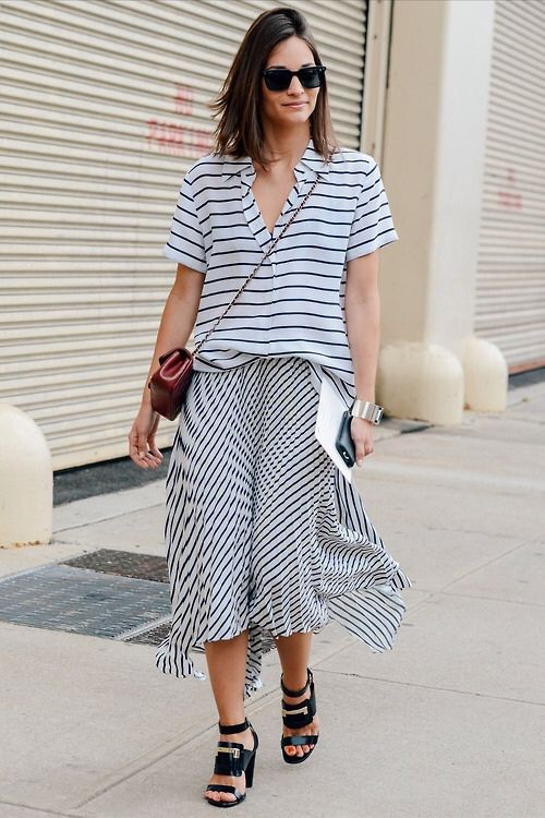 stripes-work-asymmetrical-skirts-sandals-marie-duenas-via-elle.com