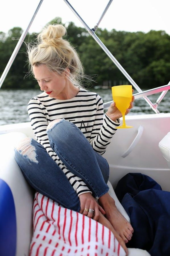 summer-beach-lake-boat-ride-striped-tee-jeans-stripes-preppy-jetsetter-via-atlantic-pacific