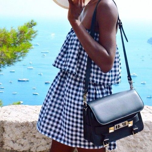 summer-beach-sailing-gingham-coverup-sundress-via-theyallhateus.com