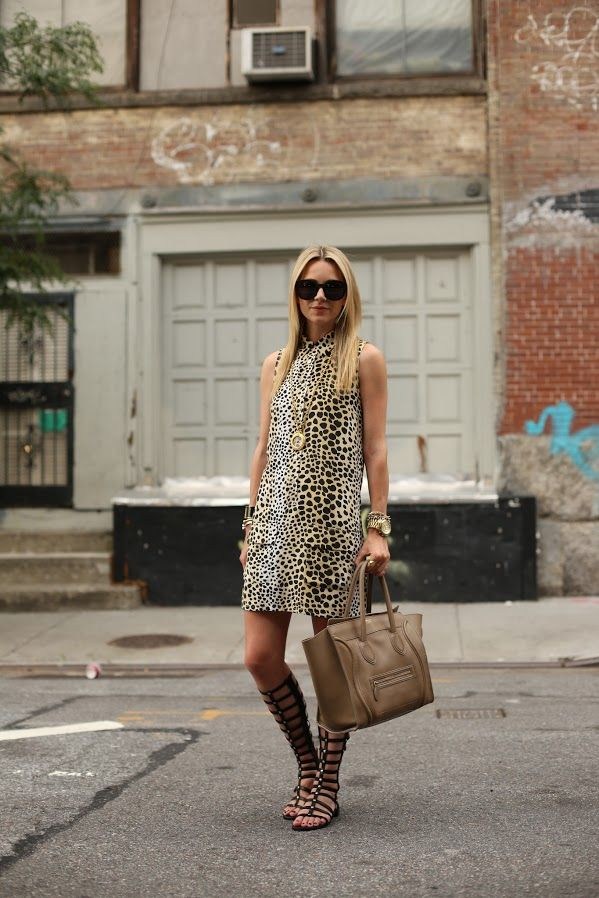 summer-dress-work-animal-print-shift-dress-tall-gladiator-sandals-via-atlantic-pacific