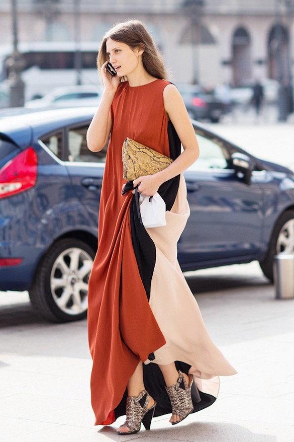 summer-maxi-dress-snakeskin-peep-toe-slingack-booties-heels-colorblock-dress-summer-wedding-party-going-out-night-out-via-a love is blind