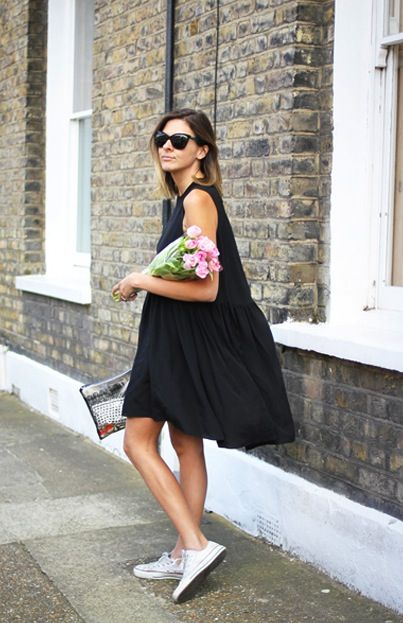 summer-sundress-bbq-shower-party-sneakers-black-and-white-lbd-going-out-night-out-via-remainssimple.tumblr.com