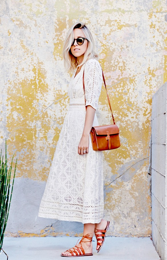 summer-white-lace-dress-boho-dress-white-dress-gladiator-sandals-boho-damsel in dior