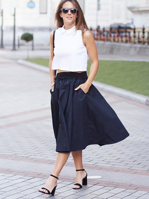 Your Summer Going-Out Uniform: Crop Tops & Midi Skirts | Closetful ...