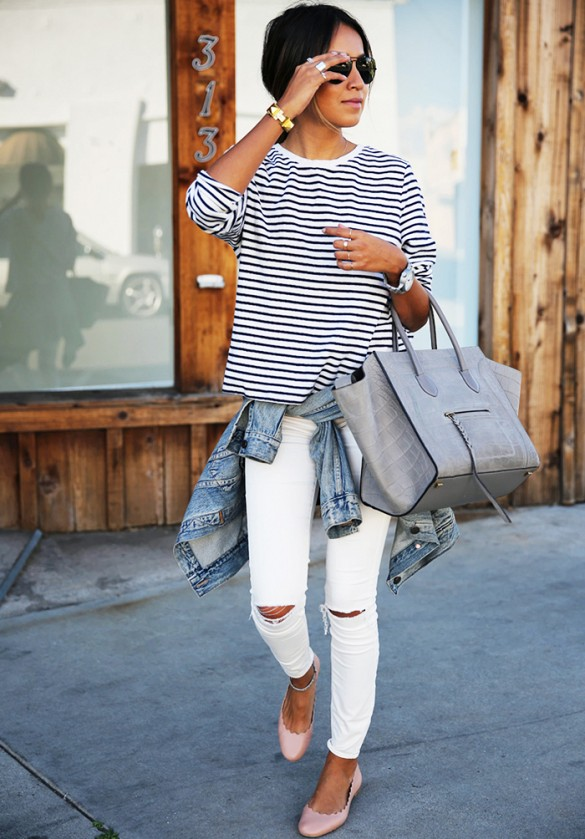 white-jeans-stripes-denim-jacket-classic-via-sincerely jules