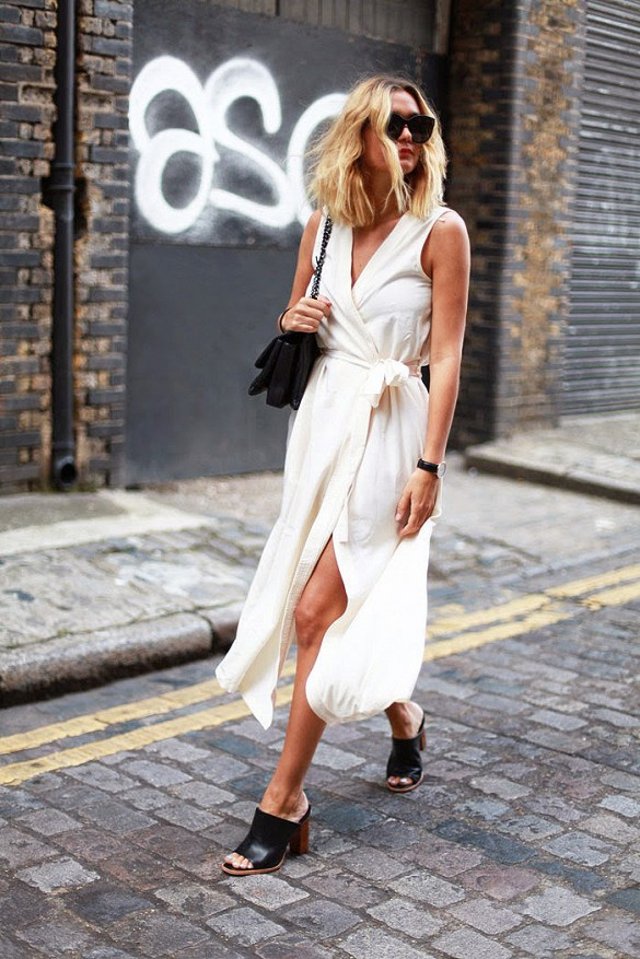 white-wrap-dress-summer-sundress-mules-black-and-white-via-adenorah