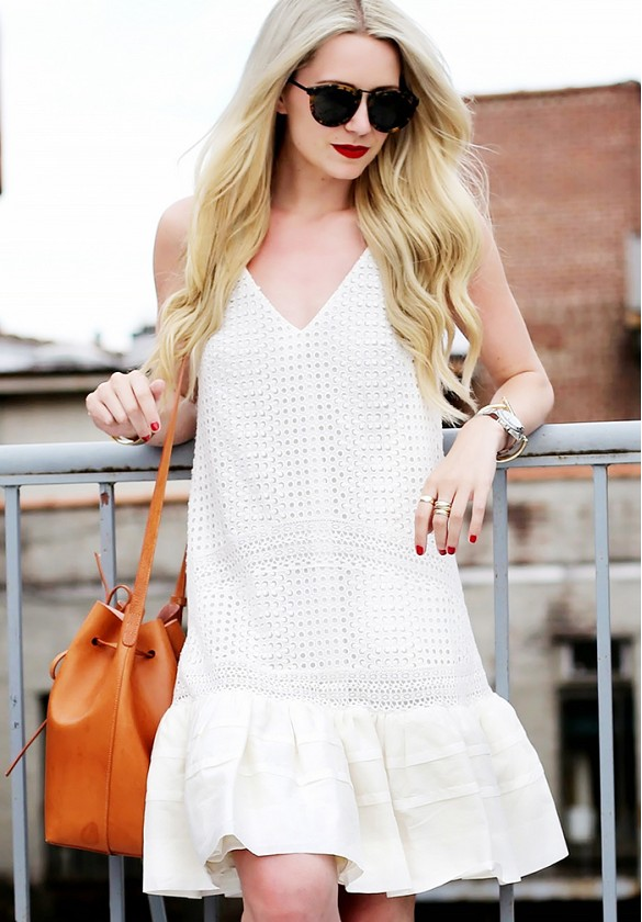 white-wrap-dress-summer-sundress-white-dress-eyelet-ruffle-peplume-skirt-dress-bucket-bag-via-atlantic-pacific