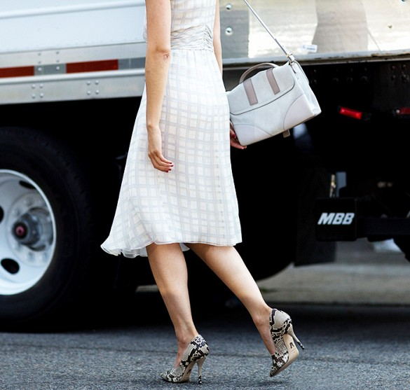 white-wrap-dress-summer-sundress-white-shift-dress-snakeskin-pumps-summer-work-via-the styleograph