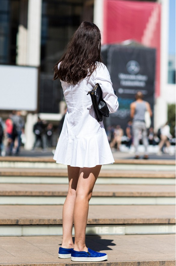 white-wrap-dress-summer-sundress-white-shirtdress-cobalt-blue-slip-on-sneakers-via-www