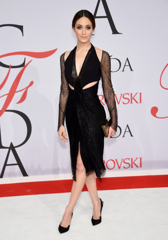 Emmy-Rossum, CFDAs, night out, going out, cocktail party, party, evening, red carpet, celeb style