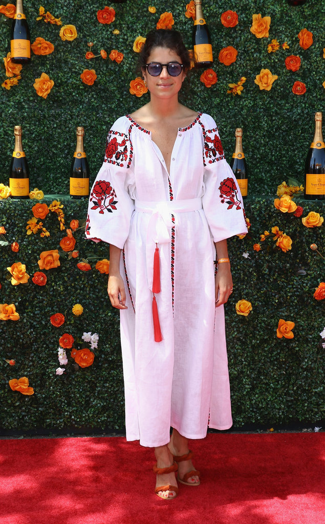 Leandra Medine Boho Emroidered Dress White Summer Coverup Bbq