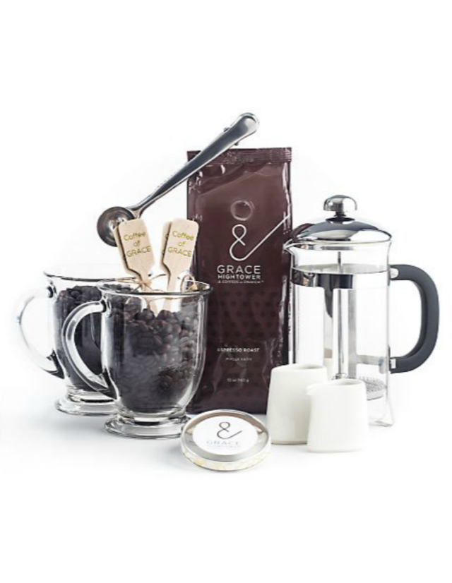 Grace Hightower & Coffees of Rwanda French Press Gift Set, $145, saks.com