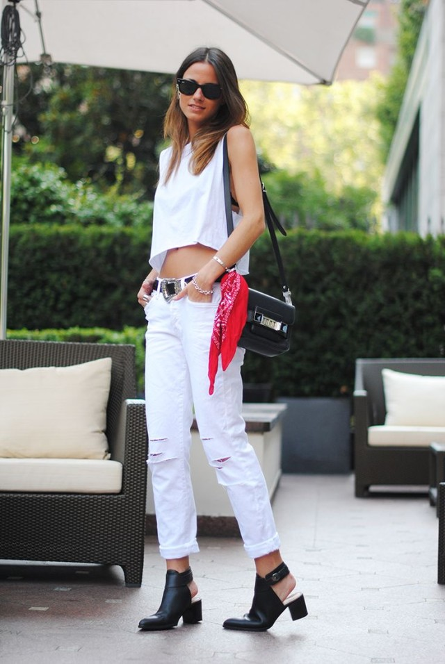 black-and-white-mules-distressed-white-jeans-boyfriend-jeans-denim-white-crop-top-all-white-bandana-via-fashionaddictaustralia