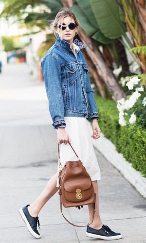 denim-jacket-white-dress-skirt-sneakers-summer-outfit-weekend-via-www