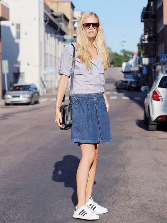 enim-skirt-oxford-shirt-adidas-sneakers-sneakers-and-skirts-via-thefashioneaters