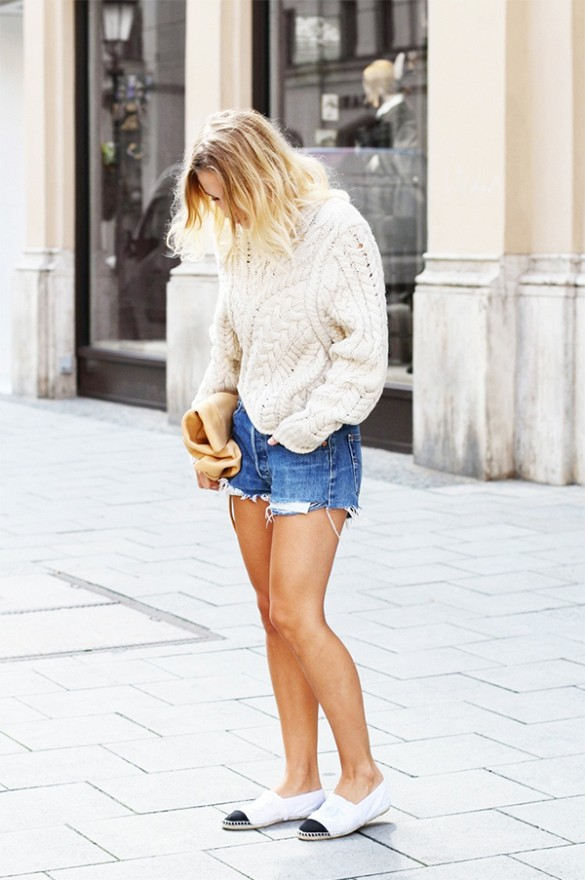 fisherman-sweater-cutoffs-espadrilles-chanel-espadrilles-via-mija