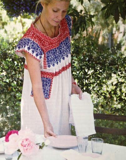 Gwyneth Paltrow Summer Weekend Embroidered Boho Dress Sundress Entertaining Backyard Party Bbq Via Goop