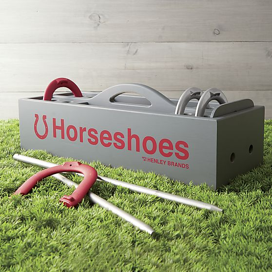 Horseshoes Set, $74.95, crateandbarrel.com