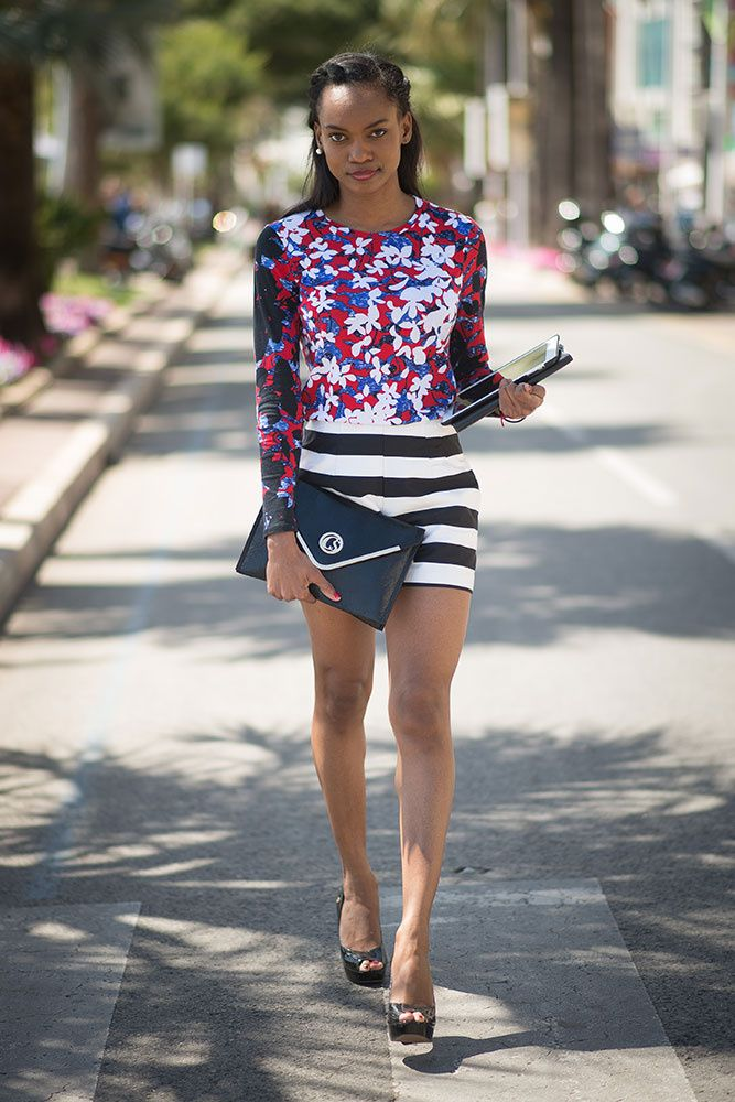 ixed-prints-striped-shorts-work-shorts-going-out-night-out-summer ...