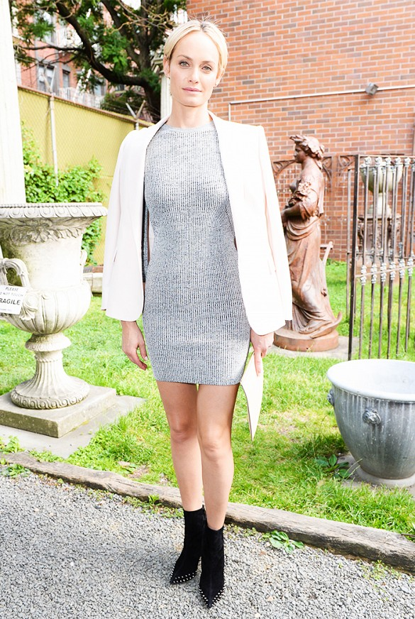 stella mccartney pre-fall presentation, amber valetti, white blazer, booties, summer