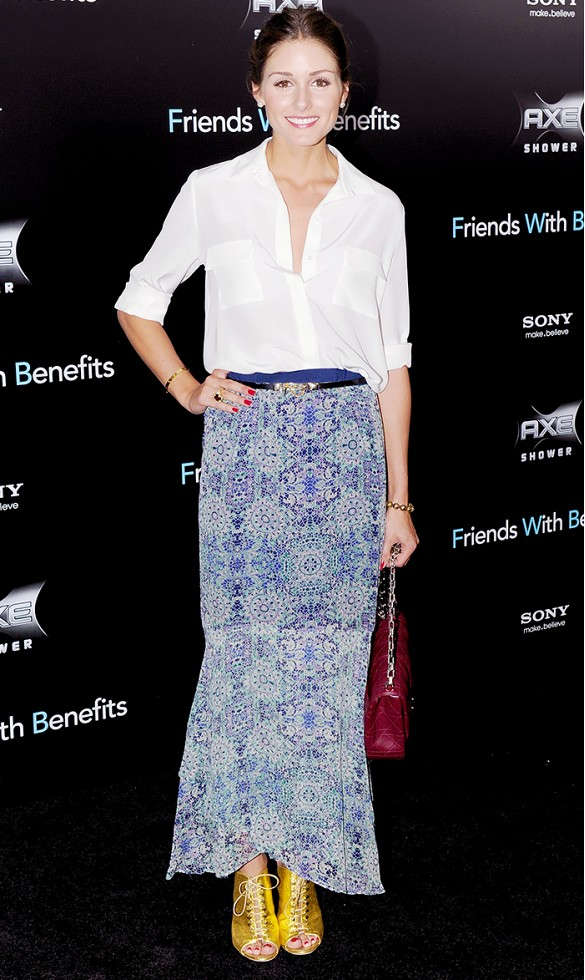 summer-maxi-skirt-paisley-boho-printed-peep-toe-bootis-white-oxford-shirt-olivia-palermo-party-night-out-date-night-summer-engagement-party-shower-via-www