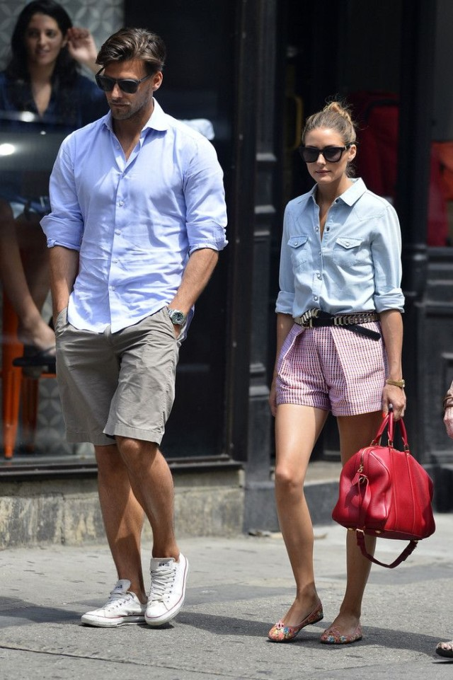 summer-outfit-fourth-of-july-red-white-and-blue-chambray-shirt-olivia-palermor-summer-vacation-sightseeing-via-www