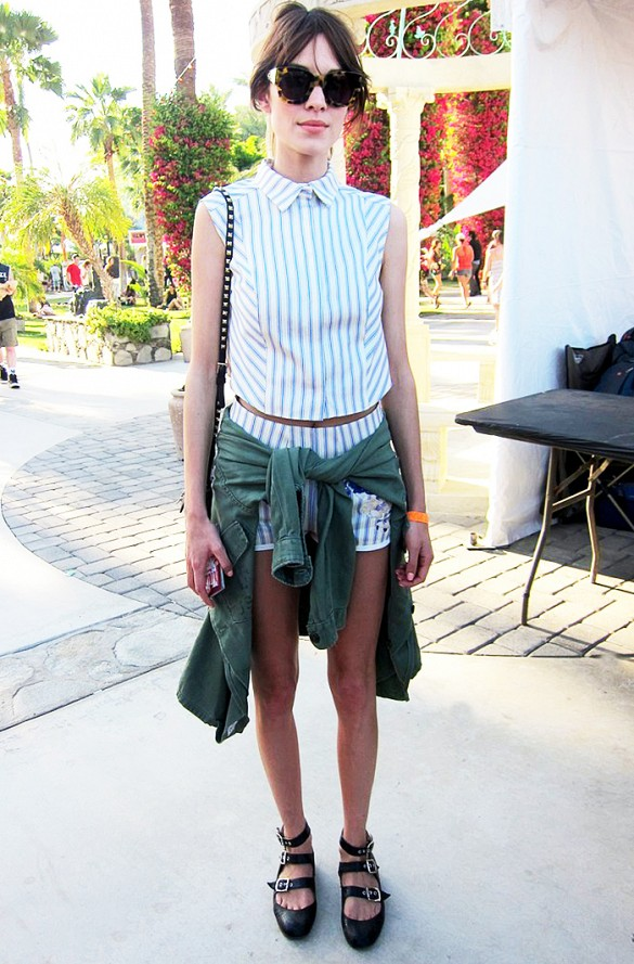 summer-pool-party-matching-set-stripes-striped-shorts-crop-top-alexa-chung-army-shirt-pool-party-flats-bbq-via-wire image