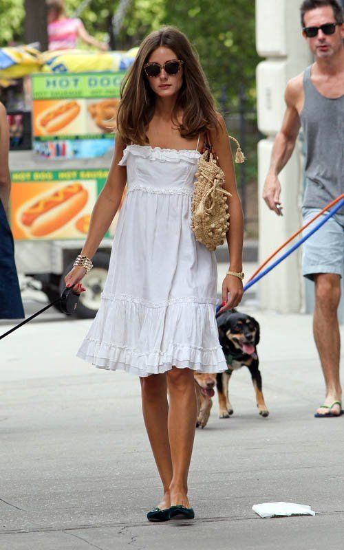 summer-vacation-sightseeing-beach-hamptons-white-summer-sundress-cover-up-straw-tote-flats-olivia-palermo-via
