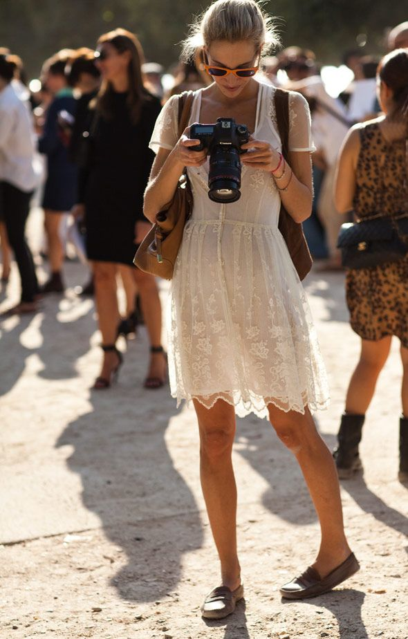 summer-vacation-sightseeing-loafers-little-whtie-dress-white-lace-dress-summer-dress-via-thesartorialist.com