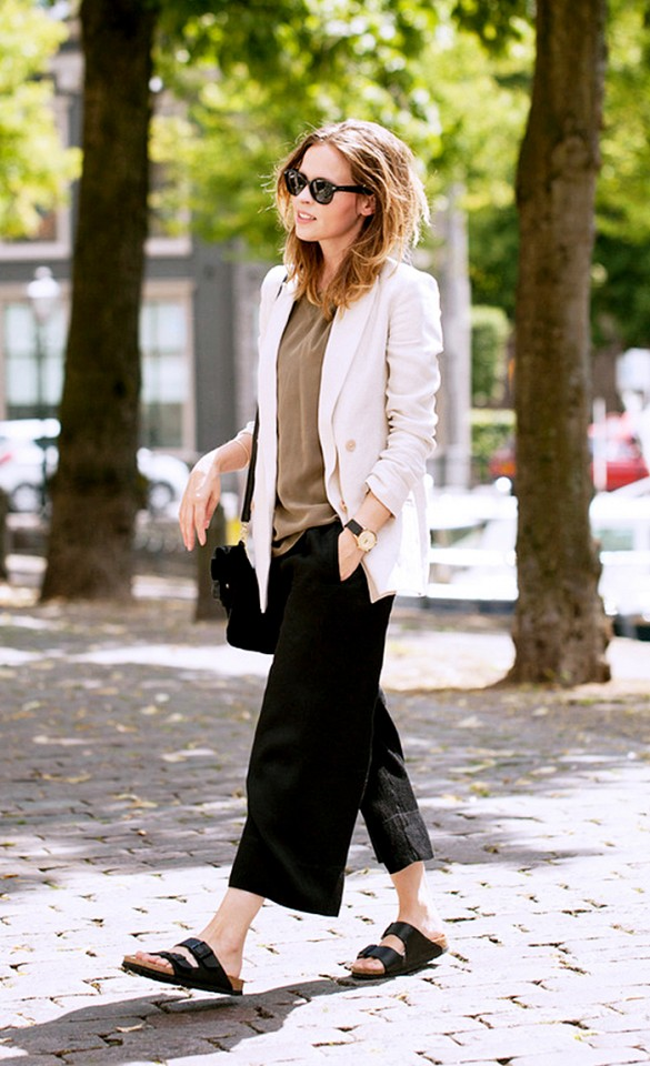 white-blazer-black-culottes-birks-summer-work-outfit-via-fash n chips
