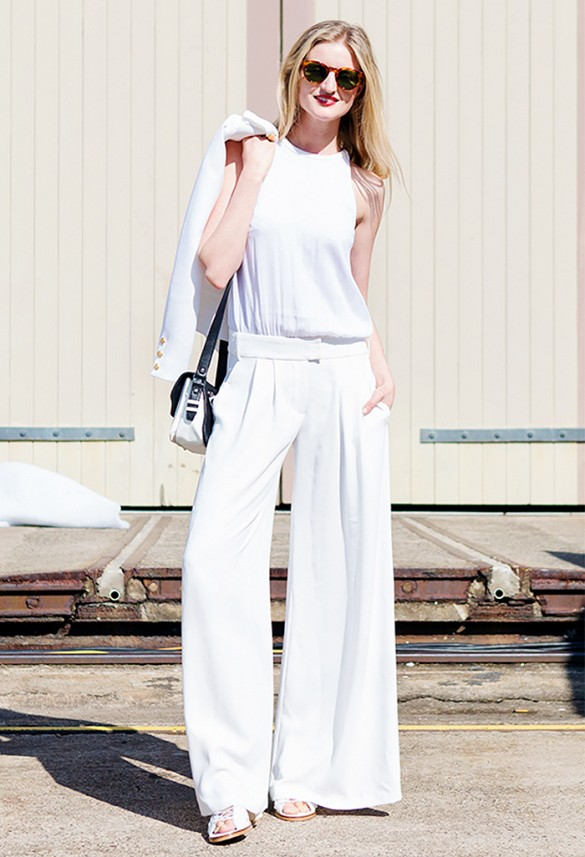 Everyone's Wearing: White Pant Suits – Closetful of Clothes