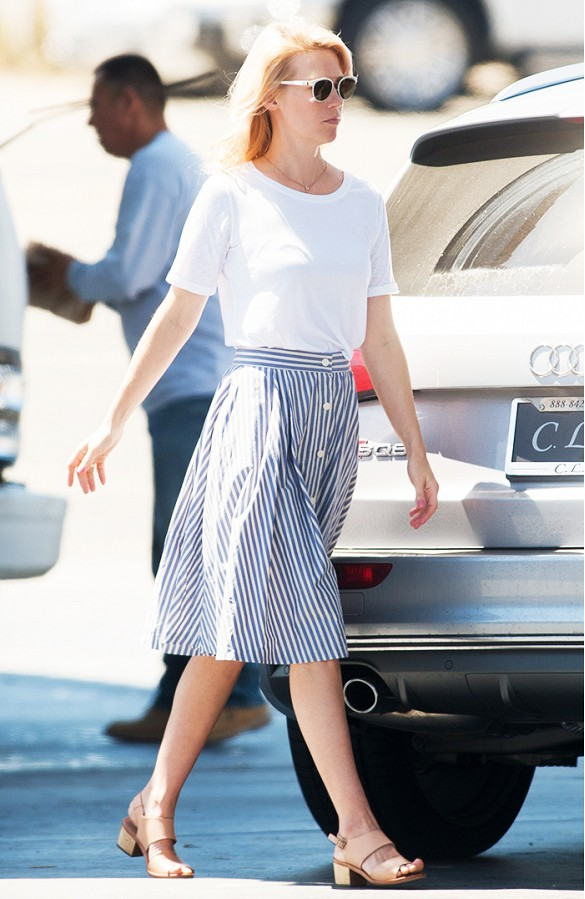 white-tee-oversized-white-tshirt-striped-midi-skirt-sandals-january-jones-summer-ladylike-weekend-hamptons-shower-brunch-work-via-www
