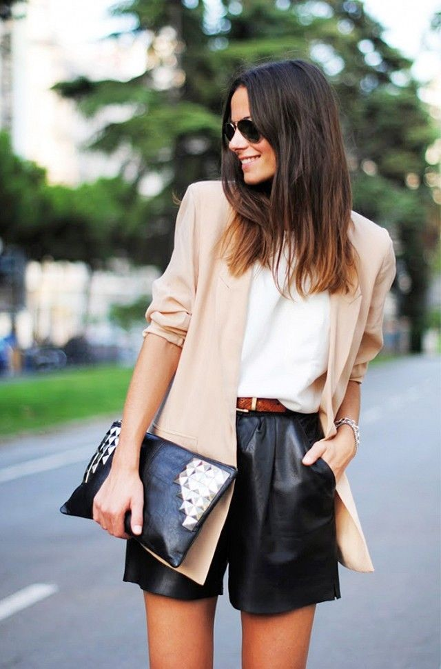 work-shorts-blazer-leather-shorts-via-www