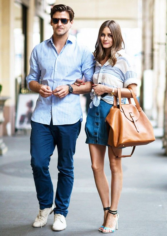 button front denim skirt, knotted shirt, striped shirt, summer stripes, olivia palermo, summer outfit, party, bbq, hamptons