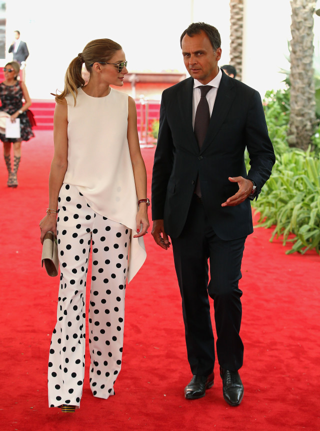 olivia palermo, polka dot wide leg pants, night out, summer party outfit