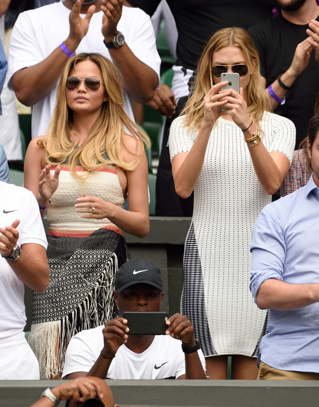 wimbledon 2015, chrissy teigen, karlie kloss, summer outfits, summer sundresses
